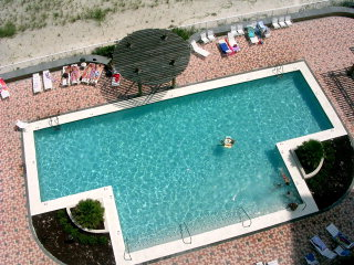 Aerial image of pool